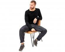 s.Oliver Pánské triko černé s dlouhým rukávem XL