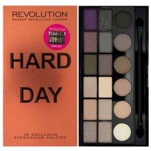 Makeup Revolution Limitovaná paletka 18 očních stínů Hard Day