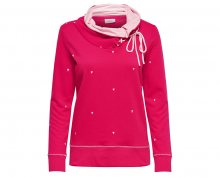 ONLY Dámská mikina New Nadine L/S Highneck Swt Rose Red XS