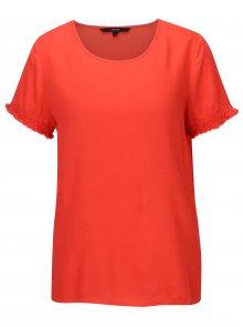 Červené tričko s třásněmi VERO MODA Mynte