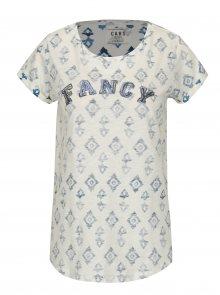Krémové vzorované tričko s výšivkou Cars