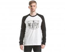 Meatfly Triko Rikker T-shirt C - White Black S
