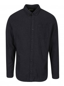 Tmavě šedá slim košile s náprsní kapsou Jack & Jones Voakland