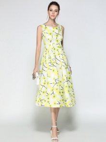 Kaimilan Dámské šaty QB622 Yellow