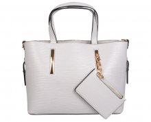 Lecharme Elegantní kabelka 1049 L.Grey