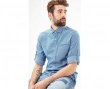 s.Oliver Pánská modrá bavlněná košile M