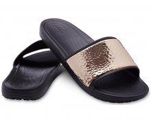 Crocs Pantofle Sloane Hammered Met Slide Black/Rose Gold 205135-08O 36-37