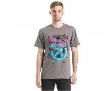 Meatfly Triko Pulse T-shirt A - Concrete Heather S