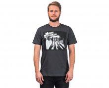 Horsefeathers Pánské tričko Clockwalk Charcoal SM466D S