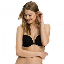 Tommy Hilfiger Dámská podprsenka Sheer Flex Micro Push-up Bra UW0UW00045-990 Black 75A