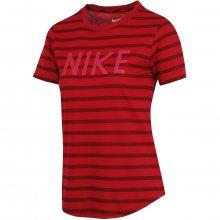 Nike Tee Stripe Crew vínová S