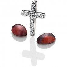 Hot Diamonds Elementy Křížek s granáty Anais EX116