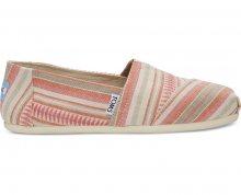 TOMS Dámské růžové Slip-On Coral Blanket Stripe Seasonal Classics Alpargatas 37