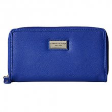 Tommy Hilfiger Elegantní modrá dámská peněženka Womens Core Wallets Zip Around Wallet Light Blue
