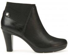 GEOX Dámské elegantní kotníkové boty Inspiration Stiv Black D64G9B-00085-C9999 41
