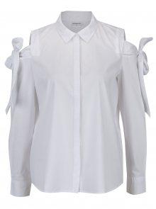 Bílá košile s průstřihy na ramenou Jacqueline de Yong Taylor