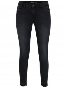 Tmavě šedé džíny s vyšisovaným efektem VERO MODA Seven