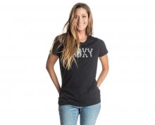 Roxy Dámské triko Basic Crew High Tides True Black ERJZT03523-KVJ0 L