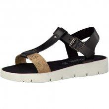 s.Oliver Elegantní dámské sandále Black/Cork 5-5-28109-28-016 36