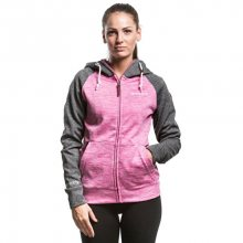 Meatfly Dámská mikina Alisha Technical Hoodie C Heather Gray, Heather Pink L