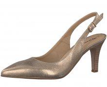 Tamaris Elegantní dámské boty 1-1-29614-38 Lt. Gold Met. 36