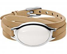 Skagen Trojitý kožený náramek s ozdobou SKJ0647040