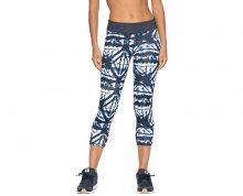 Roxy Dámské fitness legíny Natural Twist Capri Dress Blue Geometric Feeling ERJWP03014-BTK6 XS