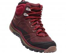 KEEN Dámské kožené boty Terradora Leather Mid Wp Wine/Rododedron 41