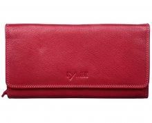 LYLEE Elegantní dámská kožená peněženka Ellie Red