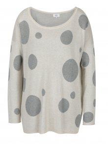 Krémový puntíkovaný svetr ONLY Valentine