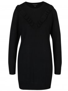 Černý dlouhý svetr s volánen Dorothy Perkins