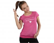 VIVANTIS Dámské fuchsiové triko Dělám to s láskou S