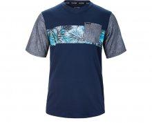 Dakine Pánské tričko Vectra S/S Jersey Midnight/Painted Palm 10001000-S17 M