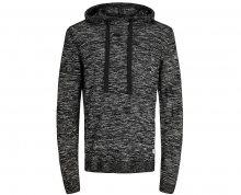 Jack&Jones Pánský svetr Jorhyper Knit Hood Black S