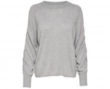 ONLY Dámský svetr Azalia L/S Pullover Knt Light Grey Melange S