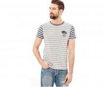 s.Oliver Pánské triko 13.709.32.5970.80G0 Blue/Grey XL