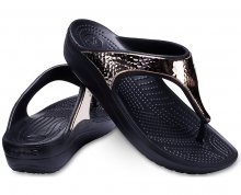 Crocs Žabky Sloane Hammered Met Flip Black/Rose Gold 205134-08O 36-37