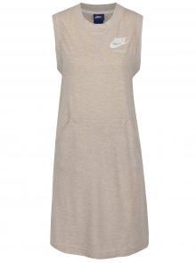 Béžové dámské sportovní šaty bez rukávů Nike