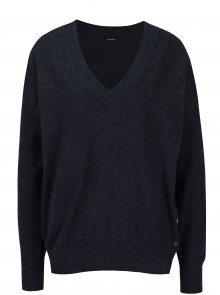 Tmavě modrý svetr s véčkovým výstřihem VERO MODA Calexico