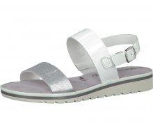 Tamaris Elegantní dámské sandále 1-1-28122-28 White/Silver 36