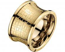 Tommy Hilfiger Originální zlatý prsten z oceli TH2700817 58 mm
