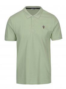 Zelené polo tričko s výšivkou ONLY & SONS Delano