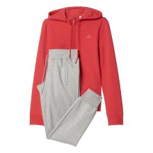 adidas Essentials Linear Cotton Suit růžová XS