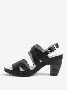 Černé sandály na podpatku s.Oliver