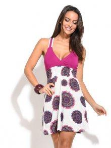 Baba Design Dámské šaty S5D116 FUCSIA