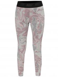 Šedo-růžové vzorované legíny Nike