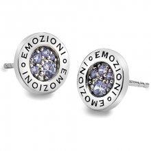 Hot Diamonds Sříbrné náušnice Emozioni Scintilla Lavender Calmess EE005