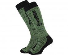 Horsefeathers Pánské ponožky Ayden Thermolite Olive Contour AA1011A 5-7