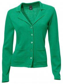 Heine Kabátek z jemného úpletu Heine zelená 34