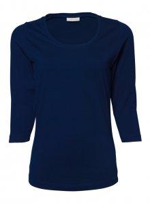 Dámské Stretch tričko s 3/4 rukávy - Námořní modrá S